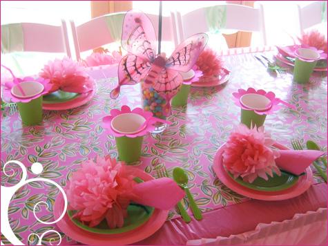 Как украсить стол для девочки на день рождения