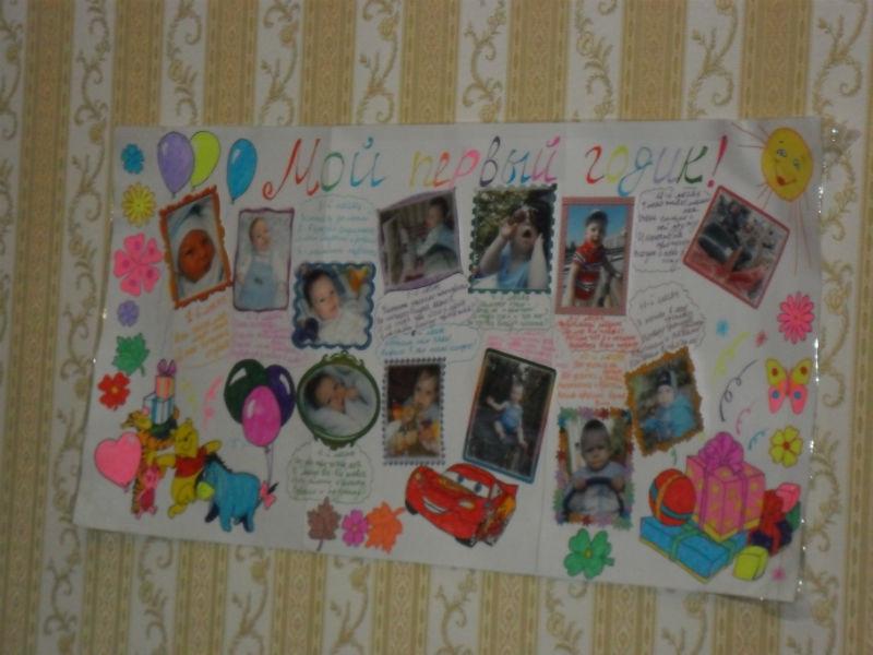 Плакат с днем рождения с конфетами своими