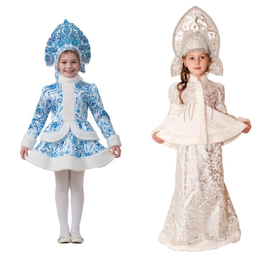 Из чего сшить костюм снегурочки своими руками