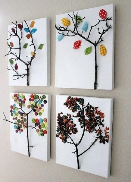 Сделать картины своими руками для детской
