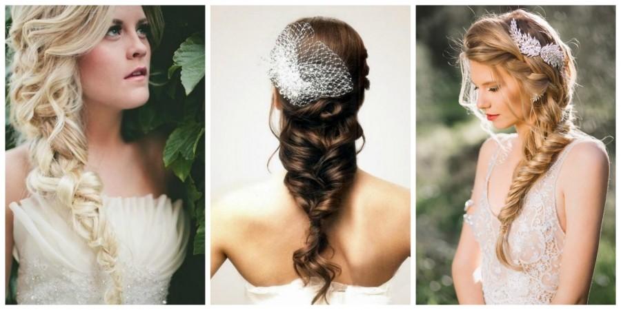 Косы на свадьбу на длинные волосы