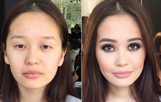 Как с помощью макияжа сделать узкие глаза 767