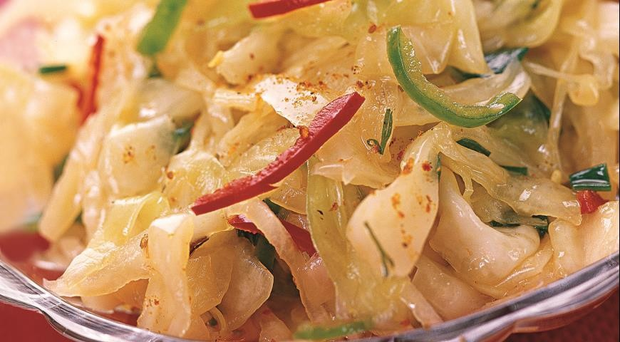 вкусный рецепт салата из капусты по корейски