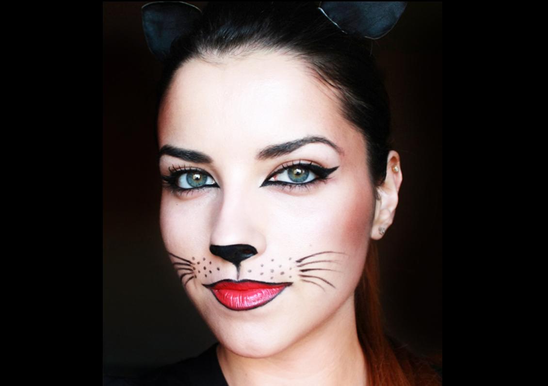 Макияж для кошки на хэллоуин фото