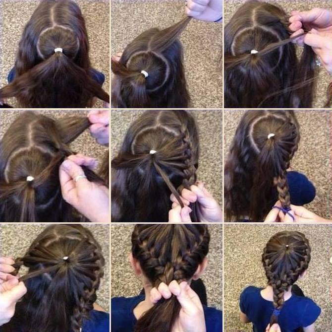 Причёски на длинные волосы для начинающих