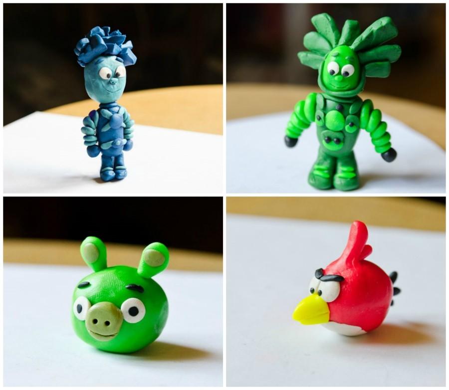 Оригинальные поделки из пластилина для детей 52