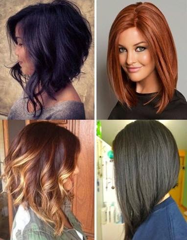 Стрижки на средние волнистые волосы боб каре 9