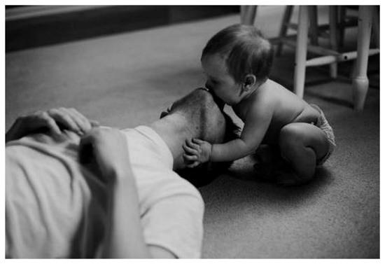 Трогательные фото папы с ребенком