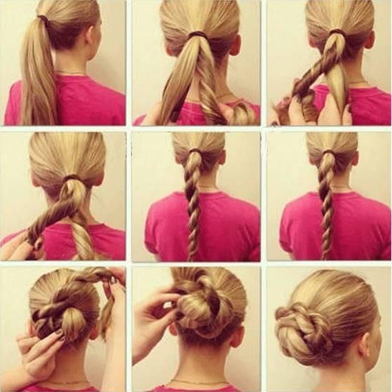 Самые простые причёски своими руками