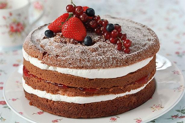 Бисквитный торт с ягодами фоторецепт