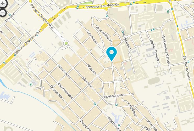 Жилой комплекс TAU-HOUSE на карте Алматы