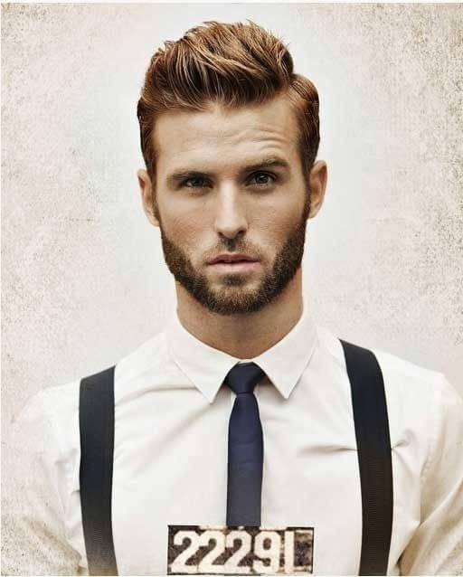 Мужская причёска волосы вверх
