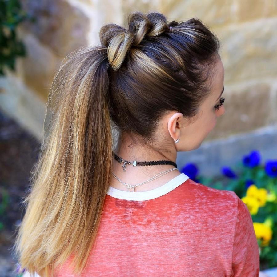 Повседневная прическа для девочки на длинные волосы