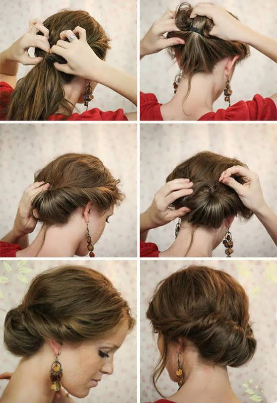 Прическа заколотые сзади волосы