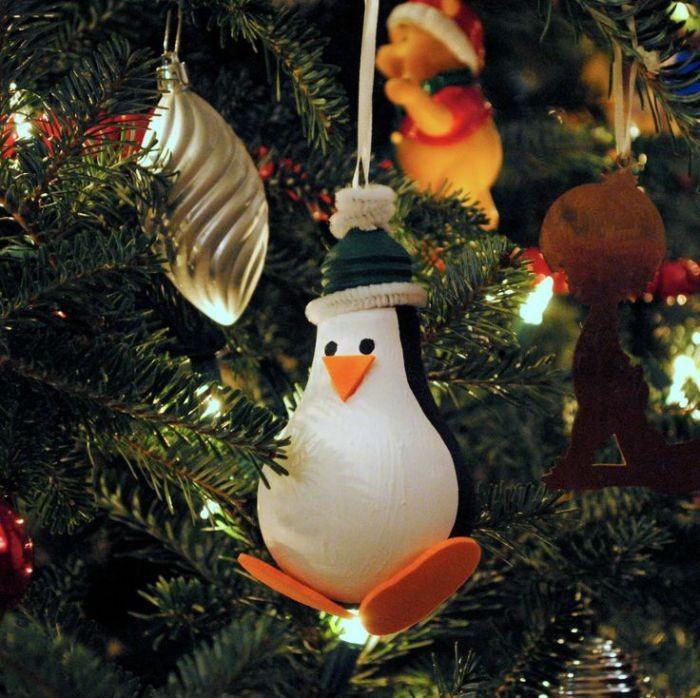 Пингвин на новый год своими руками