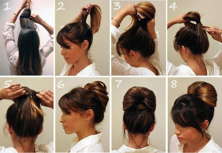 Быстрые причёски на средние волосы фото своими руками