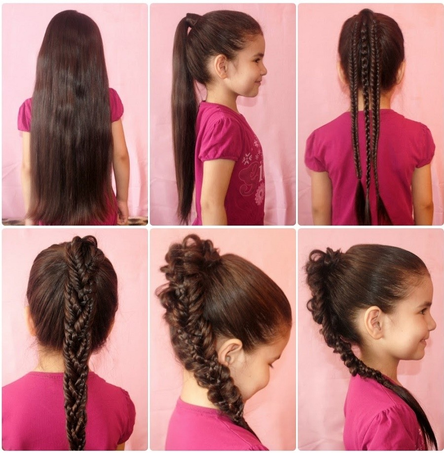 Легкие прически для длинных волос своими руками для девочек