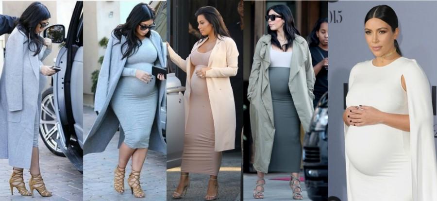 Стильные и модные платья на беременных звездах