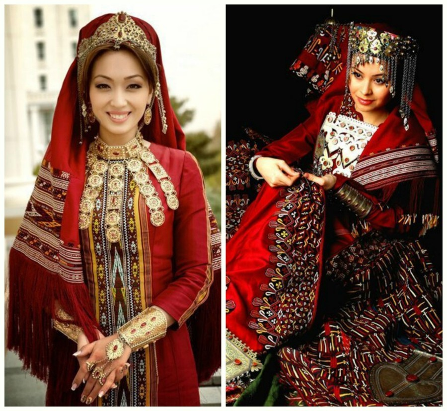 Туркменское платье фото